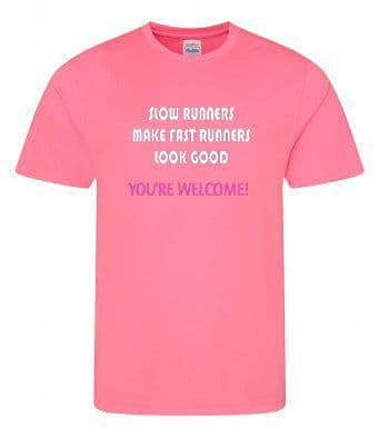 """Slow runners"" Unisex or Women's Tech T-shirt"