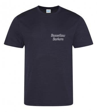 Bassetlaw Barkers  navy blue unisex or women's technical T-shirt