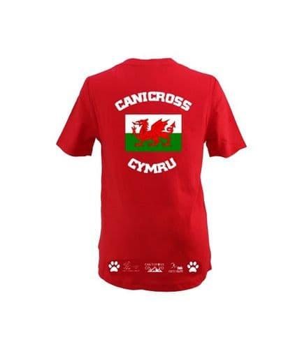 Canicross Cymru Mens technical t-shirt