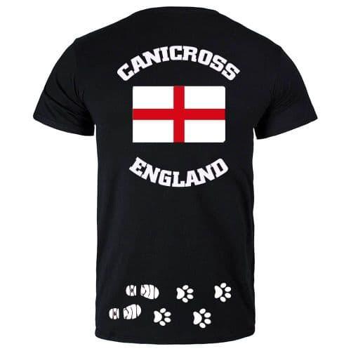 Canicross England Mens technical t-shirt