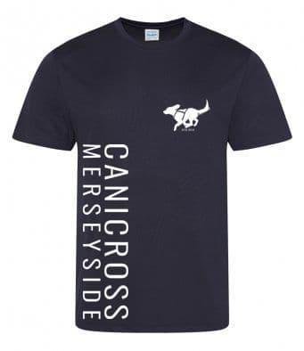 Canicross Merseyside technical t-shirt