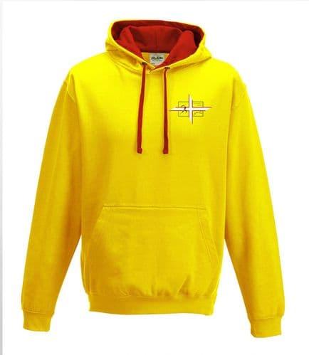 Dorset unisex contrast hoodie