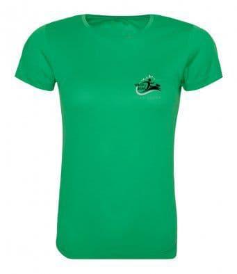 Forest of Dean Unisex or Women's  Reflective Logo Tech T-shirt