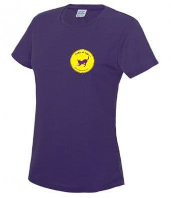 Game on Dogs purple technical t-shirt