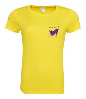 Game on Dogs yellow technical t-shirt