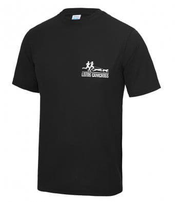 Leeds Canicross black tech t-shirt