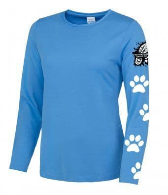 North Wiltshire Canicross Long Sleeved T-Shirt with arm logo