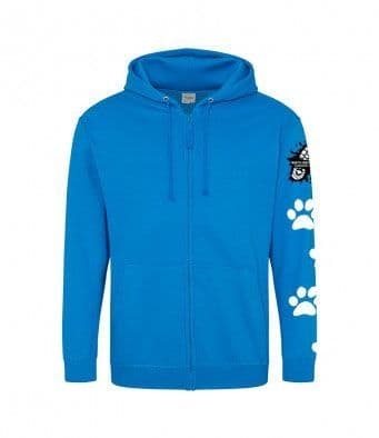 North Wiltshire Canicross Zip Hoodie with arm logo