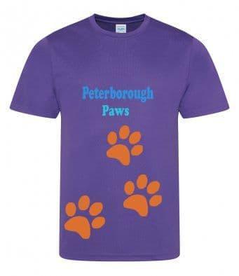 Peterborough Paws tech t-shirt