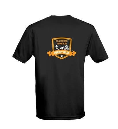 Surrey Hills black t-shirt