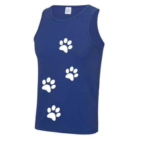 Unisex Paw Print Technical Vest