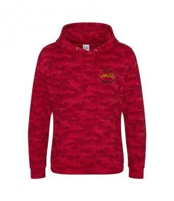 Wessex Canicross Red Camo Hoodie