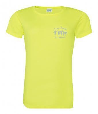 Your Pace or Mine Reflective tech t-shirt