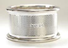 Sterling Silver Engine Turned Napkin Ring