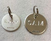 Sterling Silver Peronalised Dog Collar Tags
