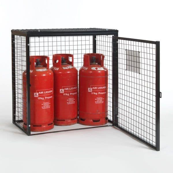 Gas Cylinder Storage Cage - 3 x 19 kg Cylinders GC05