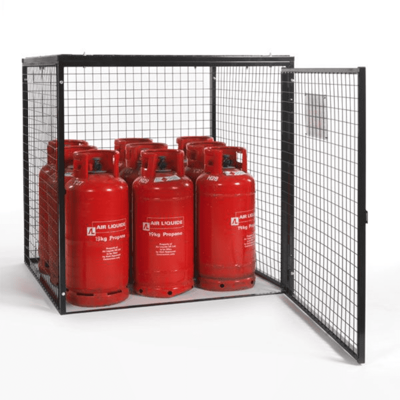 Gas Cylinder Storage Cage 9 x 19 kg Cylinders GC25