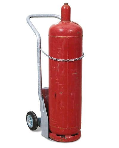 Gas cylinder trolley -  solid rubber or pneumatic tyres