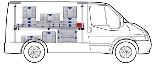MIDI One Shelf van racking kit