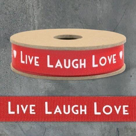 3m Ribbon-Art Deco Live,Laugh,Love