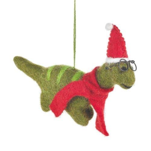 Felt Christmas Dinosaur
