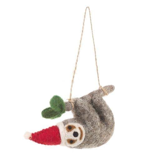 Felt Christmas Sloth