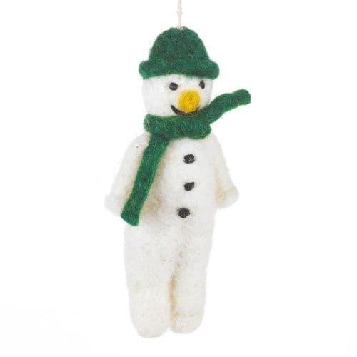 Felt Snowman-Green
