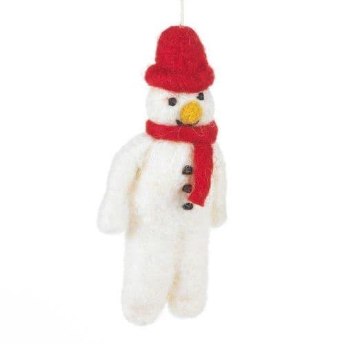 Felt Snowman-Red