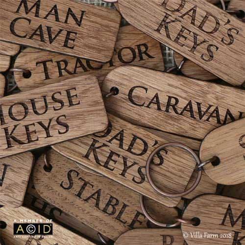 Oak Keyrings