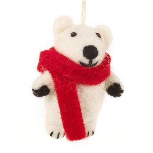 Pedro Polar Bear (red scarf)