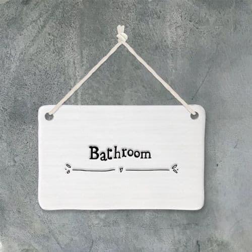 Porcelain Bathroom sign