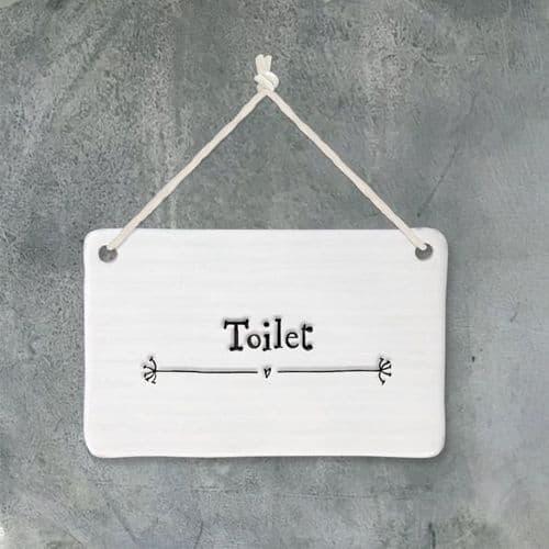 Porcelain Toilet sign