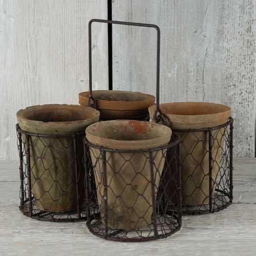 Rustic Pot Set - 4 pots