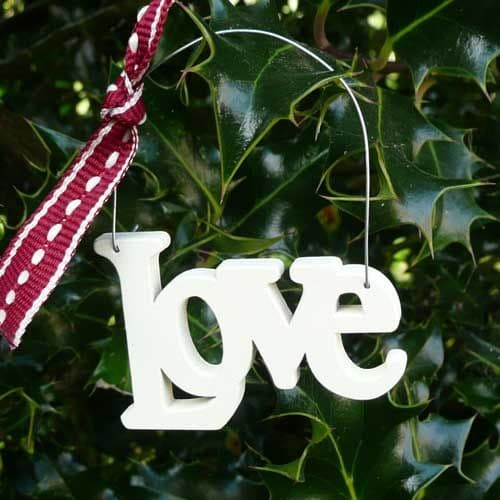 Wooden cut out word - Love