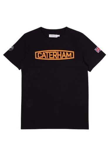 CATERHAM LOGO BLACK & ORANGE TEE SHIRT
