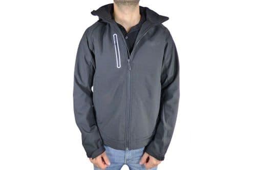 Mens Black Softshell Jacket