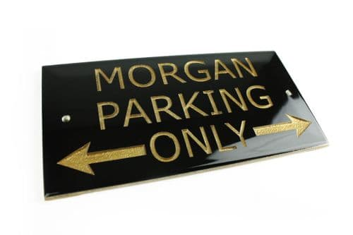 Morgan Parking Only Sign