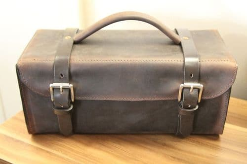 Retro leather tool bag