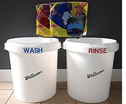 Williams 2 x Wash Buckets with Grit Guard Shields